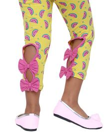 D'Chica The Cutest Leggings Ever With Back Bows - Multicolor