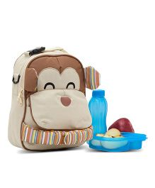 Yodo Playful Kids Lunch Box Carry Bag And Backpack - Brown