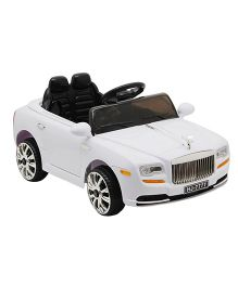 Happykids Battery Operated Ride On Car 2 Motor 2 Battery Fully Assembled - White