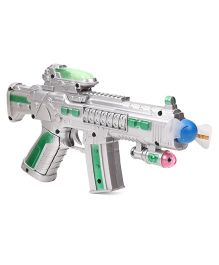 Playmate Pirate Gun With Light And Sound - Grey Green Blue Pink