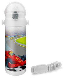 Hot Muggs Racer Print Insulated Stainless Steel Sipper Water Bottle - 350 ml