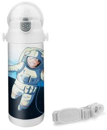 Hot Muggs Astronaut Print Insulated Stainless Steel Sipper Water Bottle - 350 ml