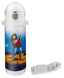 Hot Muggs Rockstar Print Insulated Stainless Steel Sipper Water Bottle - 350 ml