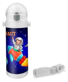 Hot Muggs Want to be an Astronaut Insulated Stainless Steel Sipper Water Bottle - 350 ml