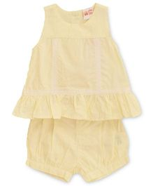 FS Mini Klub Sleeveless Top & Shorts Set - Yellow