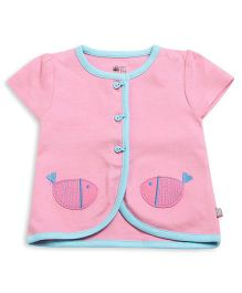 FS Mini Klub Short Sleeves Vest Fish Patch - Pink