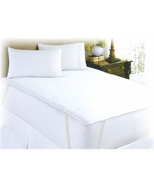 Spaces Goodnight Sleep Double Mattress Protector - White