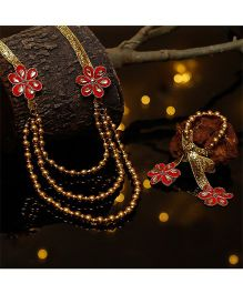 D'chica Gorgeous 3 String Ethnic Wear Jewellery - Multicolor
