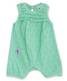FS Mini Klub Sleeveless Hakoba Romper - Light Green