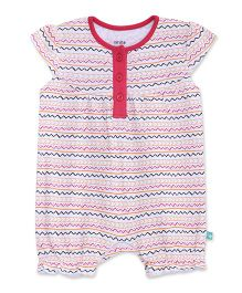 FS Mini Klub Cap Sleeves Romper Printed - Pink