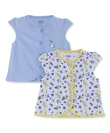 FS Mini Klub Short Sleeves Vest Bird Print Pack Of 2 - White Blue