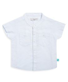 FS Mini Klub Chinese Collar Neck Shirt - Light Blue