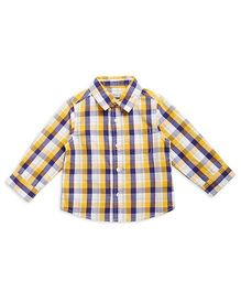 FS Mini Klub Full Check Shirt - Yellow Blue