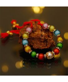 D'chica Riot Of Colours Ethnic Wear Bracelet - Multicolor