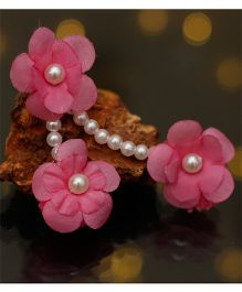 D'chica Flower Jewelry Inspired Ethnic Wear Paasa - Pink