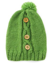 The Original Knit Hand Knitted Cap - Green