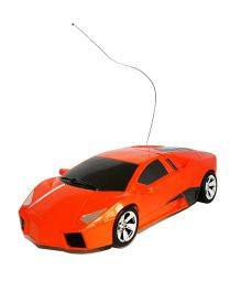 Adraxx Remote Control Transforming Car Cum Robot Simulation Model - Orange