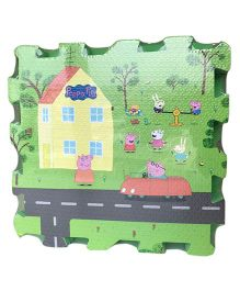 Peppa Pig Puzzle Playmat Green - 9 Pieces