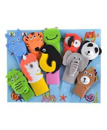 Twisha Nx EVA Animal Finger Puppets Pack of 10 - 23 cm