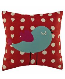 Playhood Bird Design Cushion Cover - Maroon
