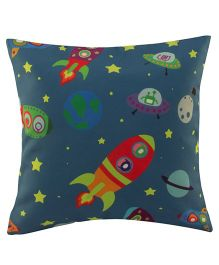 Playhood Space Design Cushion Cover - Blue
