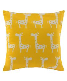 Playhood Giraffe Design Cushion Cover - Yellow