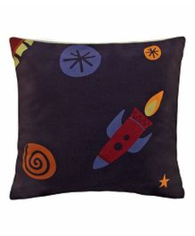 Playhood Rocket Design Cushion Cover - Dark Navy
