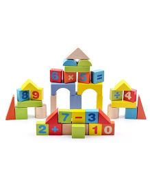Emob Wooden Puzzle Stacking Toys Multi Color - 38 Pieces