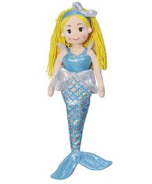 Soft Buddies Mermaid Doll Blue - 30 cm