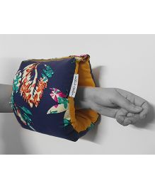BOBTAIL by Misha's Creation Arm Nursing Pillow Floral Print - Dark Blue
