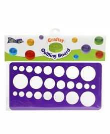 Quill On Crafsty Quilling Board - Purple