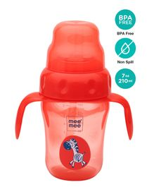 Mee Mee 2 in 1 Sprout & Straw Sipper Cup Red - 210 ml