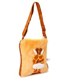 IR Giraffe Design Soft Fur Shoulder Bag - Brown