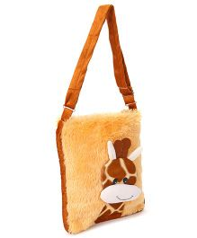 IR Soft Fur Giraffe Shoulder Bag - Coffee Brown