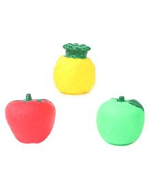Squeaky Bath Toys Fruits Pack Of 3 - Green Red Yellow