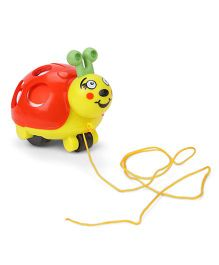 Giggles Twirlly Whirlly Turtle Buggy Pull Along Toy  - Red And Yellow