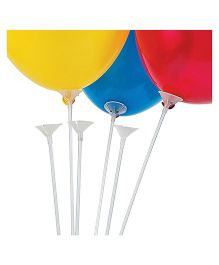 Party Anthem Balloon Transperent Stick & Base - Pack of 30 (Each)