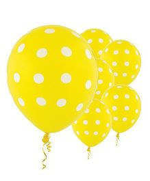 Party Anthem Polka Dot Balloons Pack Of 20 - Yellow
