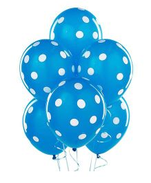 Party Anthem Polka Dot Balloons Pack Of 20 - Blue