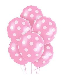 Party Anthem Polka Dot Balloons Pack Of 20 - Pink