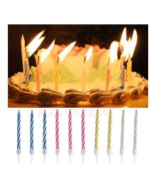 Party Anthem Magic Relighting Candles Pack of 10 - Multicolour
