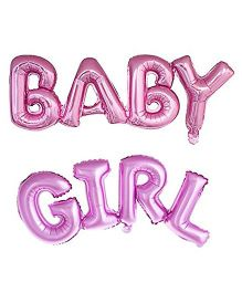 Party Anthem Baby Girl Letter Foil Balloon - Pink