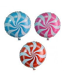 Party Anthem Candy Swirl Foil Balloons - Pack Of 3
