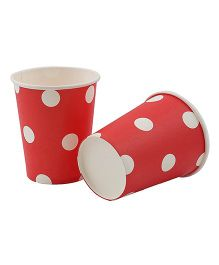 Party Anthem Polka Paper Cups Pack Of 20 - Red