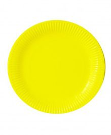 Party Anthem Paper Plate Pack Of 20 - Yellow