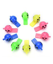 Party Anthem Football Design Whistle Set of 24 - Multicolour