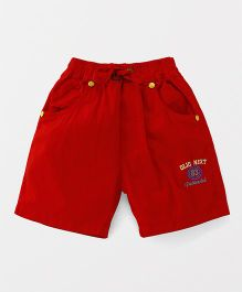 Olio Kids Shorts With Drawstrings - Red