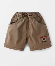 Olio Kids Shorts With Drawstrings - Brown