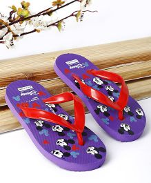 Cute Walk by Babyhug Flip Flop Mickey Mouse Print - Purple & Red