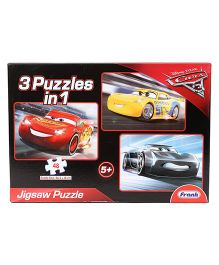 Disney Pixar Cars 3 In 1 Jigsaw Puzzle - 144 Pieces